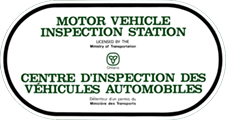 MTO Ontario Motor Vehicle Inspection Station Licensed